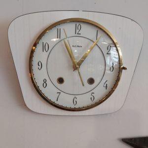 pendule horloge vintage formica BC Paris