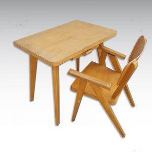 pupitre et chaise bois enfant