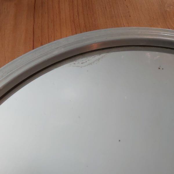 plateau art déco miroir 2 poignées