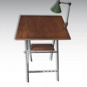 table à dessin acier bois