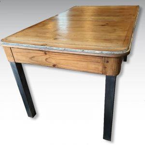 table ancienne de campagne pieds acier