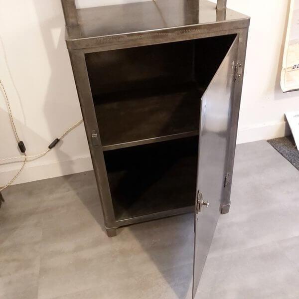 meuble médicale partie basse avec 1 porte acier et étagère