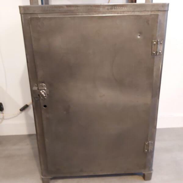 vitrine médicale 1 porte acier pour rangement vintage hopital