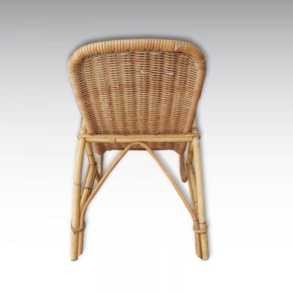 fauteuil rotin enfant vintage