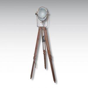 projecteur Cremer lentille Fresnel 16cm trépied bois