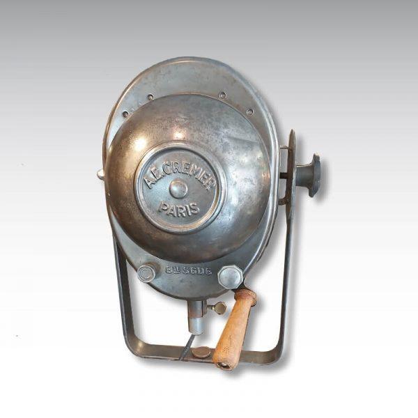projecteur Cremer 16cm poignée origine bois chariot variation flux lumineux