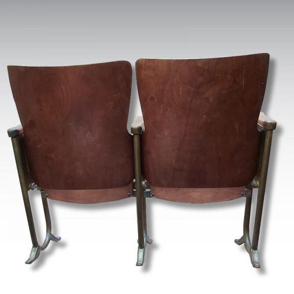 double fauteuil de cinéma acier bois