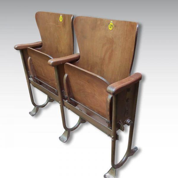 double strapontin 1950 bois structure acier