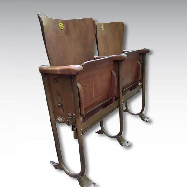 double strapontin fauteuils de cinema ancien