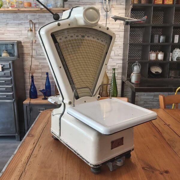 balance milliot vintage émaillée blanc testut