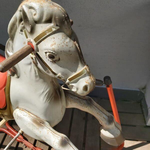 cheval bascule tole ressort vintage mobo toys jouet enfant