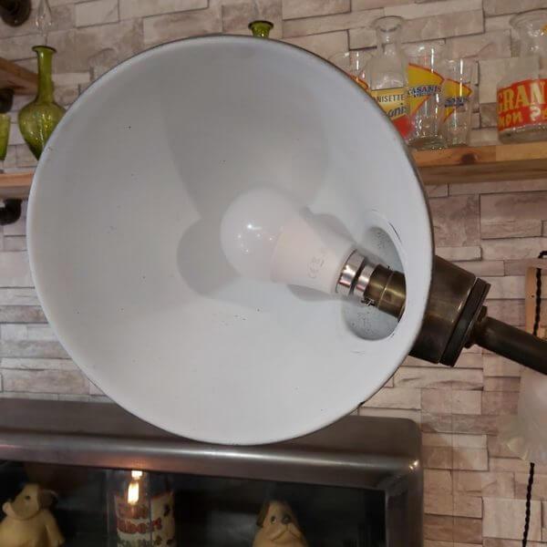 lampe rg levallois garage métal décapé