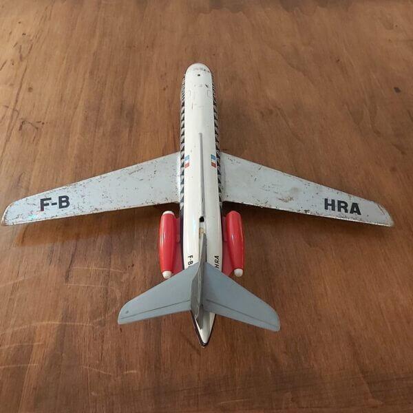 avion caravelle air france jouet mont-blanc tole et plastique