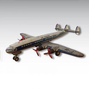 avion joustra super constellation Air France jouet tole dans son jus 1958