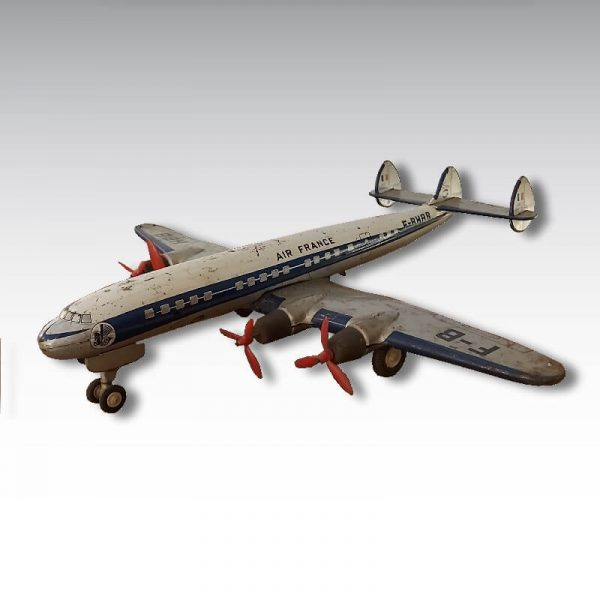 avion joustra super constellation Air France jouet tole dans son jus 1958