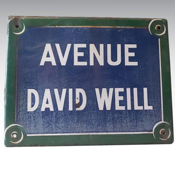plaque émaillée rue david weill paris 14ème arrondissements
