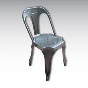 chaise enfant acier style industriel tolix