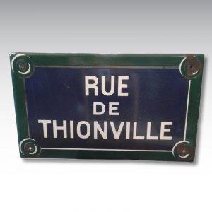 plaque émaillée plaque de rue paris