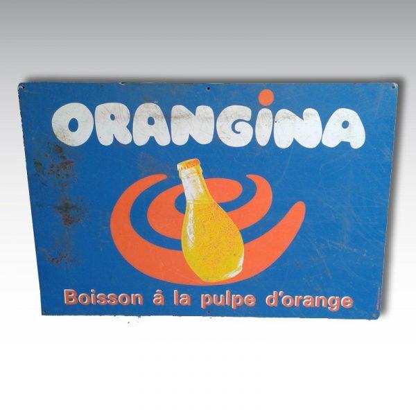 plaque tole orangina plaque emaillee 30cm x 75 cm plaque publicitaire