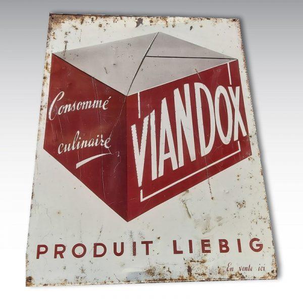 plaque viandox liebig plaque publictaire objet pub