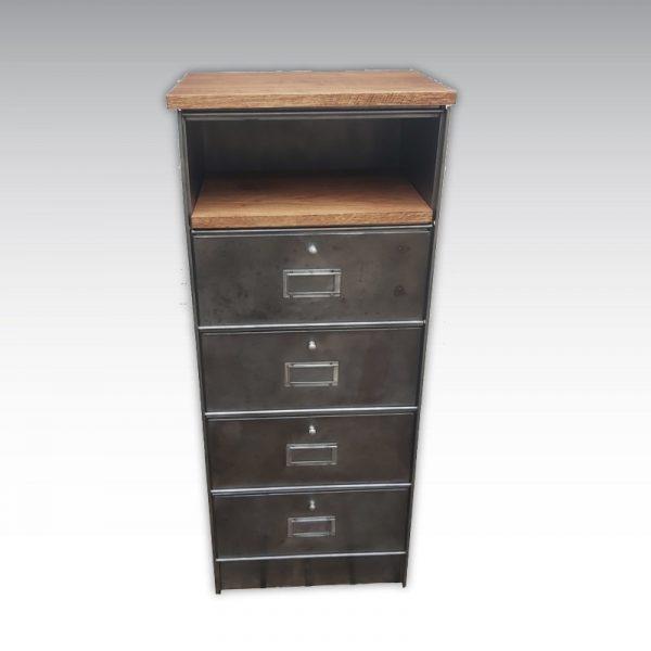 colonne à clapets meuble de rangement bois métal ronéo strafor meuble de metier meuble industriel
