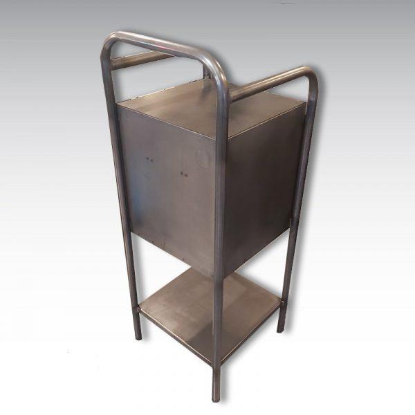 chevet table de nuit métal
