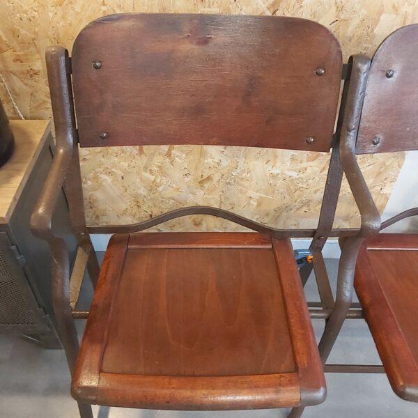 strapontin fauteuil de cinéma bois métal circa 1920 théatre