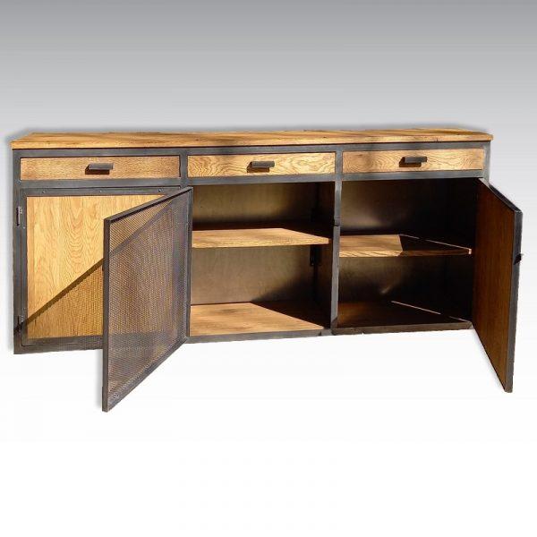 commode industrielle a tiroirs et portes