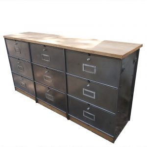 meuble a clapets ronéo colonne à clapets rangement mobilier industriel